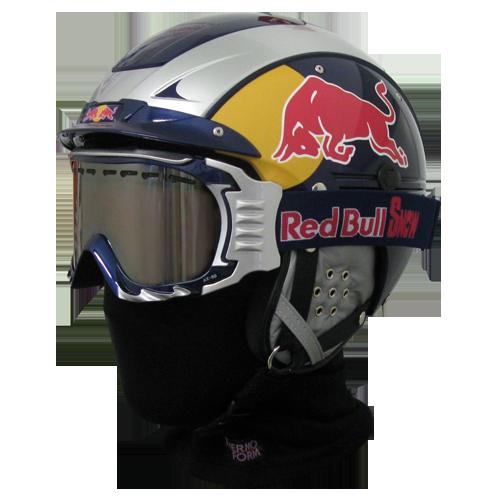 Skihelm Casco SP-5.2 RedBull Set-1 silber-blau Red Bull