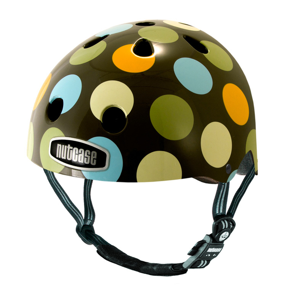 nutcase ntg3 2013 street dots kinder fahrradhelm gr m 56. Black Bedroom Furniture Sets. Home Design Ideas