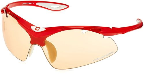High fly red Cratoni Sport- und Sonnenbrille incl. Hardcase