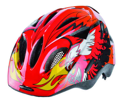 Rapper Cratoni Kinder Radhelm red-orange-black, Gr. S (47-52 cm)