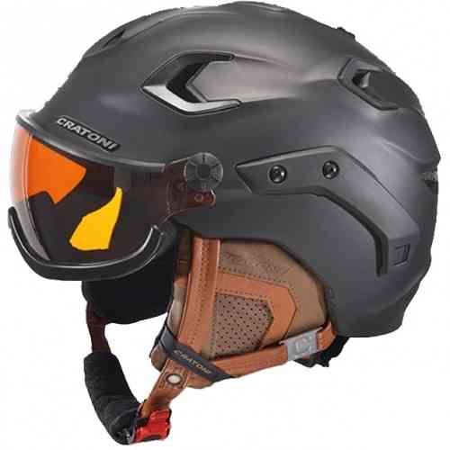 Cratoni C-17 Hightech Skihelm und Snowboardhelm black rubber