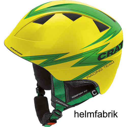 Kinder-Skihelm Cratoni Boogie yellow-green glossy
