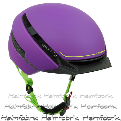 E-Bike-Helm,Fahrradhelm, Pedelec Helm Cratoni C-Loom purple-lime rubber