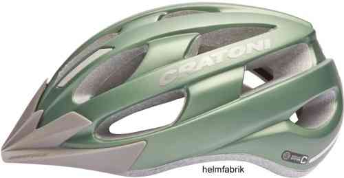 E-Bike-Helm Fahrradhelm Urban Helm Cratoni Velon metallic-green matt