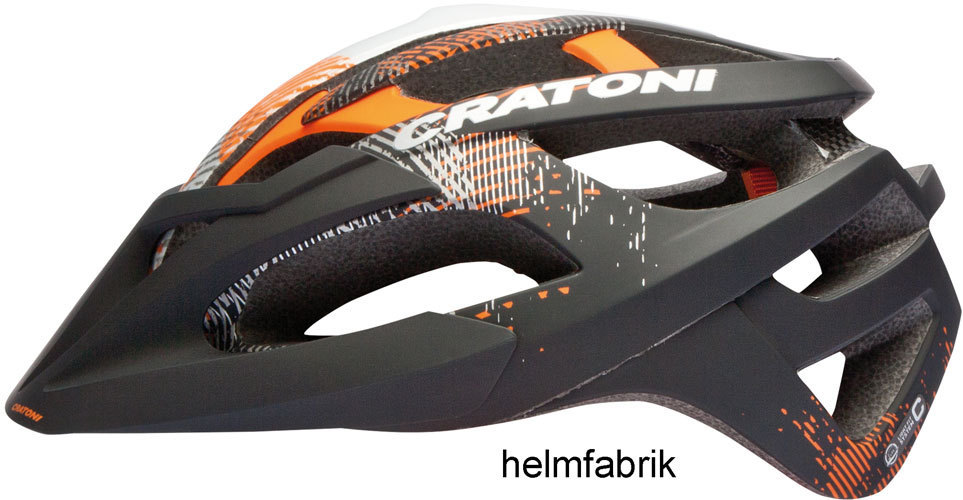 mtb helm cratoni c hawk black orange silver rubber offroad. Black Bedroom Furniture Sets. Home Design Ideas