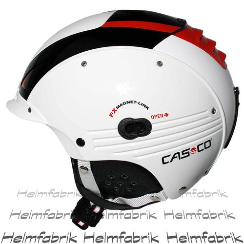 Skihelm Casco SP-5, Competition - weiß-rot glanz, inkl. Hardcase, Gr. L/XL (58-62 cm)