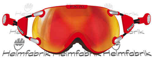 Skibrille Casco FX-70 MagnetLink, Carbonic, rot-orange