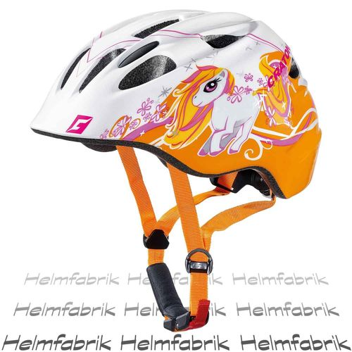 Fahrradhelm Kinder Cratoni Akino, pony white-orange glossy, Gr. M (53-58 cm)