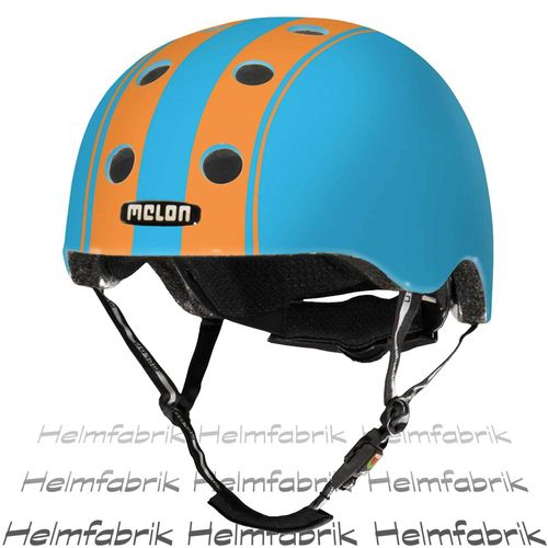 BMX Fahrradhelm Skatehelm Melon, Double Orange Blue, Gr. XXS-S