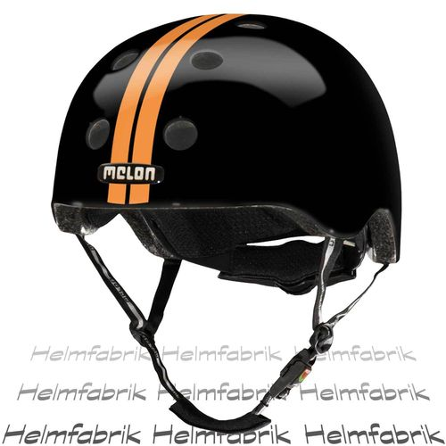 BMX Fahrradhelm Skatehelm Melon, Straight Orange Black, Gr. M-L