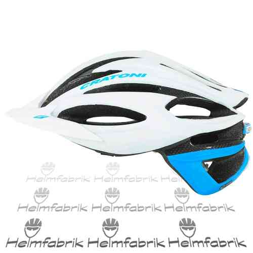 Mountainbike Helm Cratoni C-Limit, white-blue, Gr. M/L (56-59 cm)