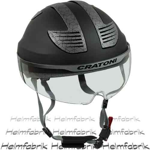 E-Bike Fahrradhelm Cratoni Evolution, black-grey rubber, Gr. S/M (53-57 cm)