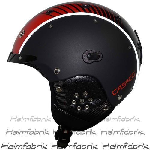 Skihelm Casco SP-3 Airwolf Racing, schwarz-rot, ohne Skibrille, Gr. M