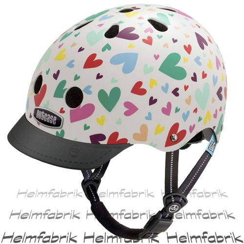 Fahrradhelm für Kinder Nutcase Gen3  - Little Nutty Happy Hearts, Gr. XS (48cm-52cm)