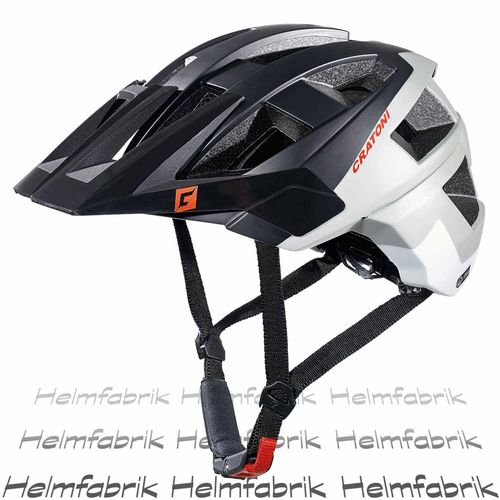 Mountainbike Helm Cratoni AllSet, black-grey-white matt, Gr. S-M (54-58 cm)