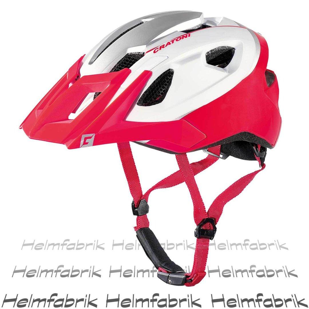 mountainbike helm cratoni allride red white matt gr uni. Black Bedroom Furniture Sets. Home Design Ideas