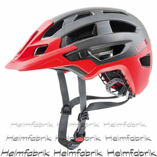 MTB All Mountain Fahrradhelm Uvex finale, darksilver-red mat, Gr. 52-57 cm