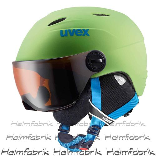 Skihelm Uvex junior visor pro, applegreen mat, Gr. 54-56 cm