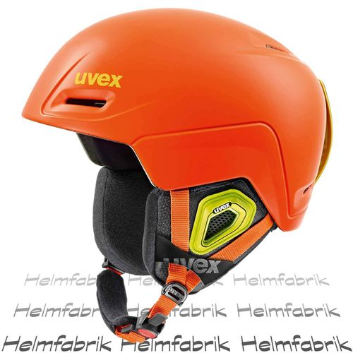 Skihelm Uvex jimm, orange mat, Gr. 55-59 cm