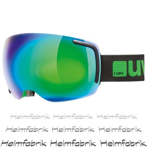 Skibrille Uvex big 40 FM, black-green mat