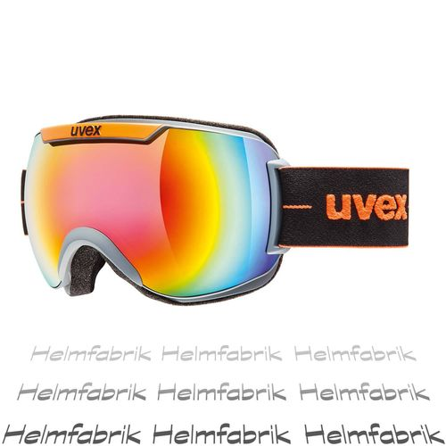 Skibrille Uvex downhill 2000 FM, coal-orange mat - mirror rainbow