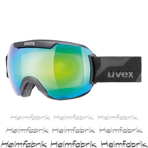 Skibrille Uvex downhill 2000 FM, black mat - mirror green