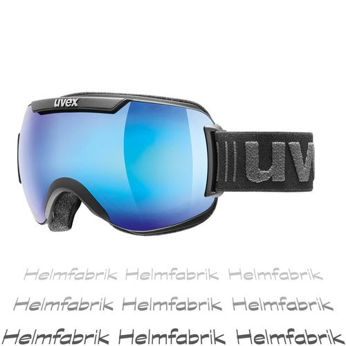 Skibrille Uvex downhill 2000 FM, black mat - mirror blue