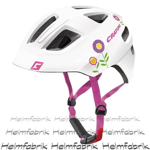 Fahrradhelm Kinder Cratoni Maxster, white flower glossy, Gr. XS-S (46-51 cm)