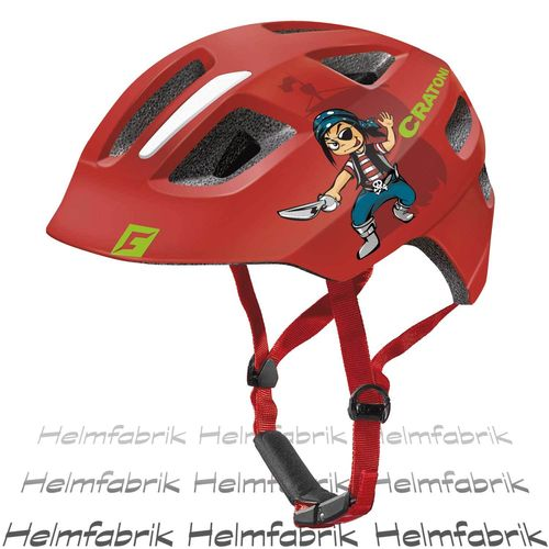 Fahrradhelm Kinder Cratoni Maxster, red pirate glossy, Gr. XS-S (46-51 cm)