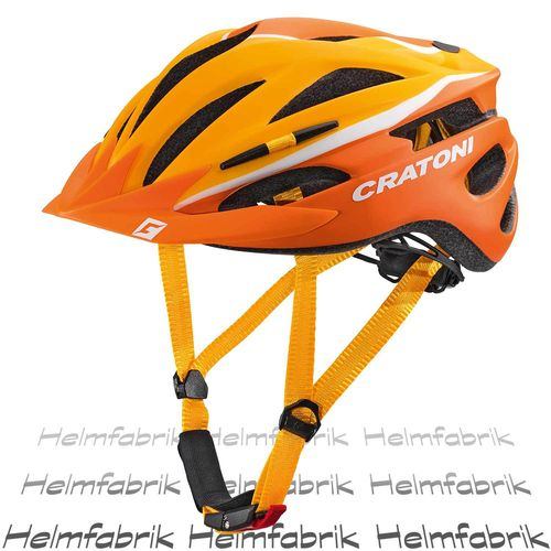 Fahrradhelm Helm Cratoni Pacer, orange-white matt, Gr. S-M (54-58 cm)