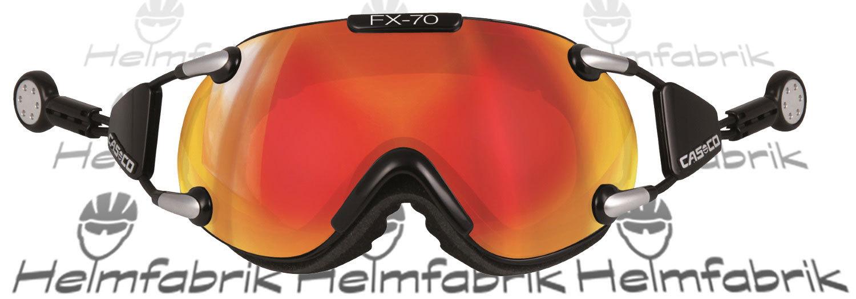 inkl Hardcase Skibrille Casco FX-70 MagnetLink Carbonic schwarz-orange