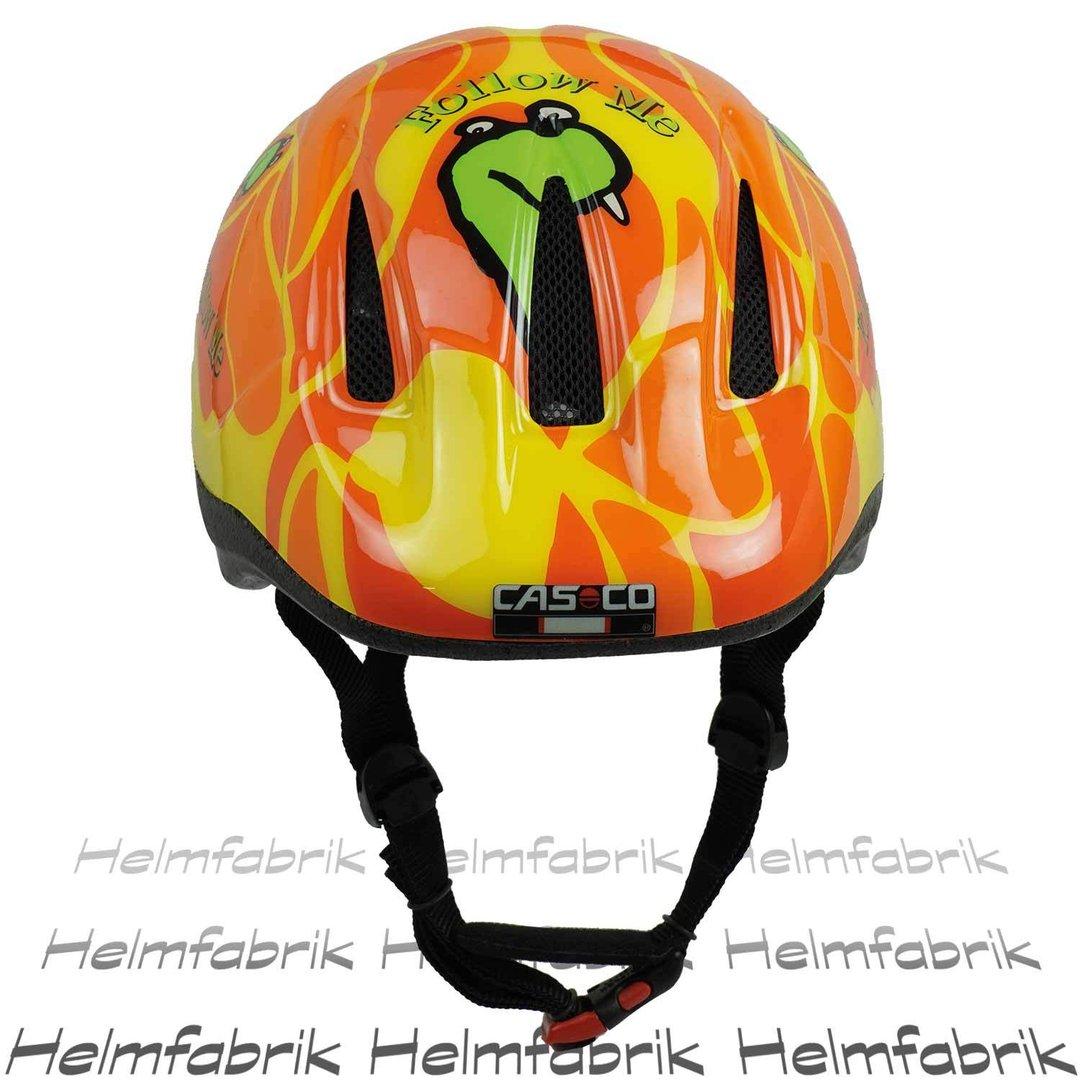 kinder helm fahrradhelm casco follow me dino. Black Bedroom Furniture Sets. Home Design Ideas