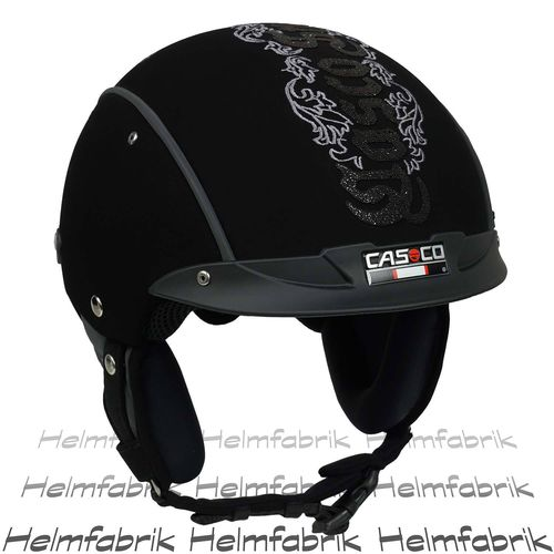Skihelm Casco SP-3 Limited Edition Crystal Snow schwarz incl. Hardcase S