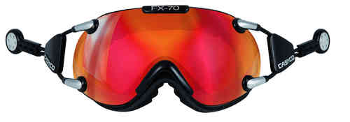 Skibrille Casco FX-70 Carbonic black-red