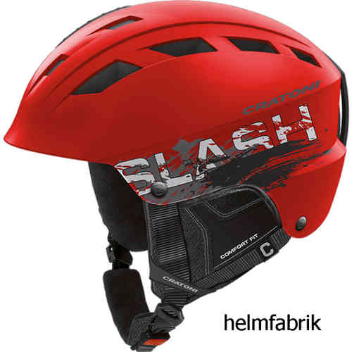 Skihelm Cratoni Slash-TS red-black matt