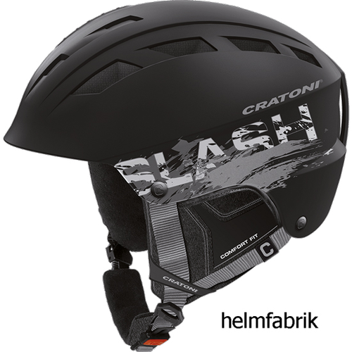 Skihelm Cratoni Slash-TS black-silver matt