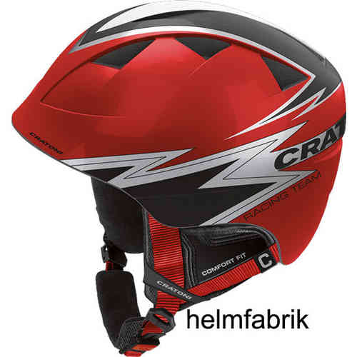 Kinder-Skihelm Cratoni Boogie red-black glossy