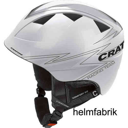 Kinder-Skihelm Cratoni Boogie white-silver glossy
