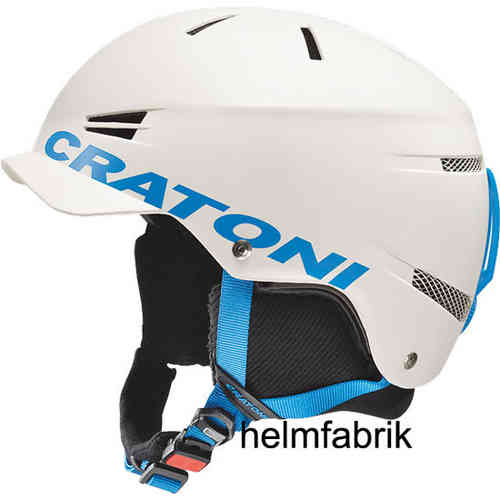 Skihelm Cratoni Mono white-blue matt