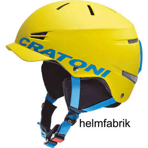 Kinder-Skihelm Cratoni Mono yellow-blue matt
