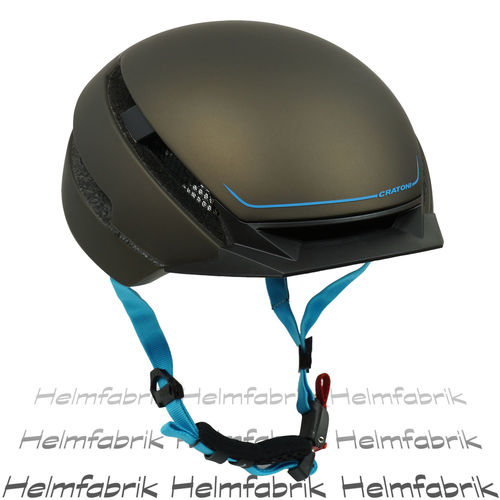 E-Bike-Helm,Fahrradhelm, Pedelec Helm Cratoni C-Loom brown-blue rubber, Gr. S/M (53-58 cm)