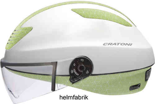 Lifestyle Fahrradhelm Pedelec-Helm Cratoni Evolution white-green rubber