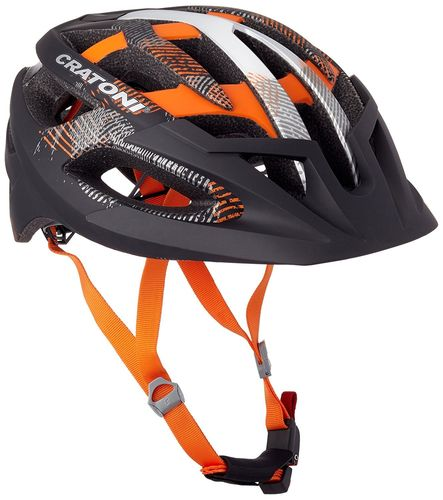 MTB Helm Cratoni C-Hawk black-orange-silver rubber