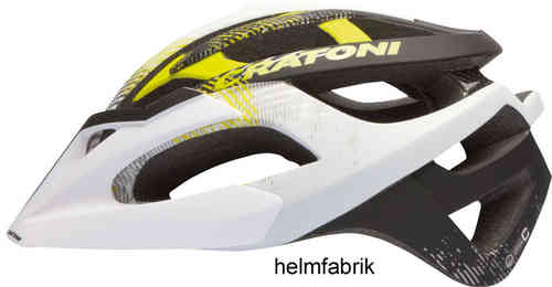 MTB Helm Cratoni C-Hawk white-black-lime rubber