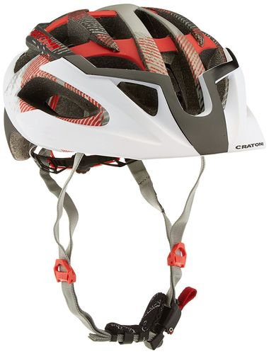 MTB Helm Cratoni C-Hawk white-black-red rubber