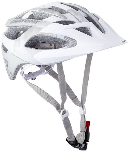 MTB Helm Cratoni C-Hawk white-silver rubber