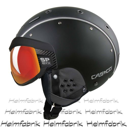 Skihelm Casco SP-6, schwarz Multilayer, inkl. Hardcase, Gr. L (58-62 cm)