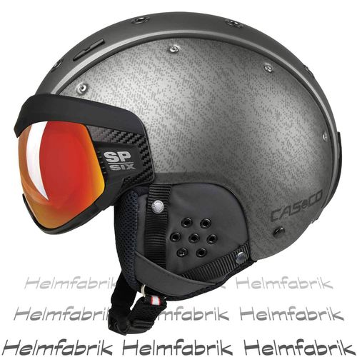 Skihelm Casco SP-6, silber Multilayer, inkl. Hardcase, Gr. L (58-62 cm)