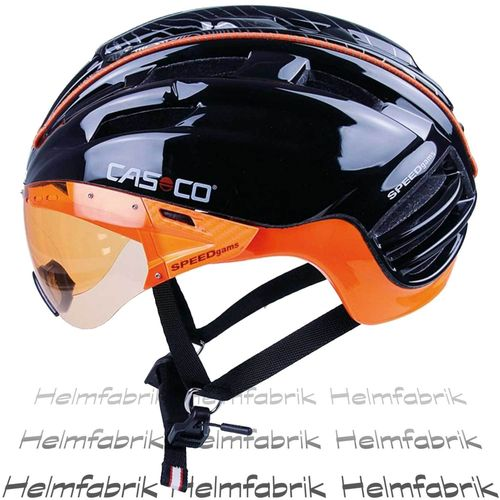 Skitourenhelm Casco SPEEDgams, schwarz-orange glanz, Gr. M