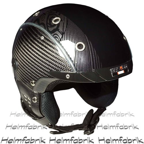 Skihelm Casco SP-3 Limited Edition Carbon, schwarz-glanz, inkl. Hardcase, Gr. M (54-58 cm)